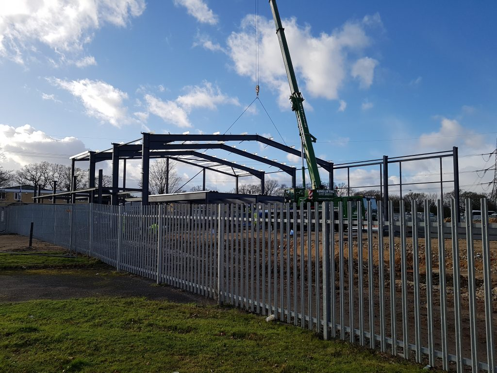 Week 7: Steel work on the new build