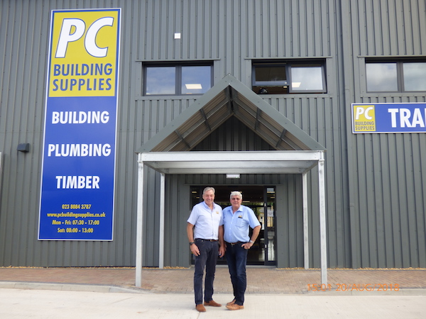 tim and nick dunning outside of pc building supplies new site